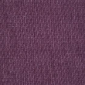 Reims - Pink Aubergine Purple - Plain, unpatterned purple coloured fabric made out of cotton