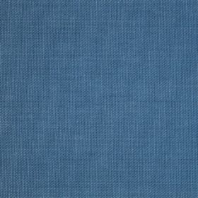 Reims - Blue - Cotton fabric in mid blue with no pattern