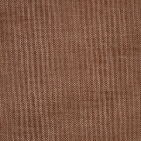Reims - Brown - Plain cotton fabric in chocolate brown