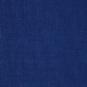 Reims - Blue - Cotton fabric in a plain shade of deep sea colour blue