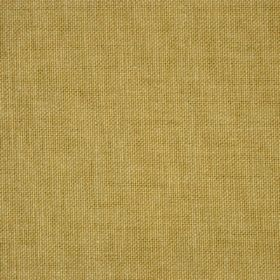 Reims - Gold Yellow - Olive green coloured cotton fabric with no pattern