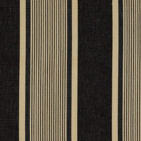 Marotta - Noir - Fabric made from 100% cotton, featuring a bold design of wide and narrow vertical stripes in beige & slate grey colours
