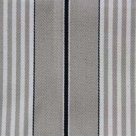 Rimini - Charcoal - Cotton fabric with both wide and narrow grey, white and black stripes