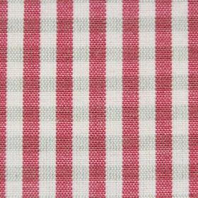 Rasuro - Tomato - Fabric made from cotton with a red, white and very pale green checked pattern