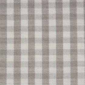 Rasuro - Flax - Checks in two different shades of grey on a very pale grey cotton fabric background