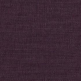 Carnac - Purple Aubergine - Linen, cotton and viscose blend fabric made in a plain, very dark shade of purple