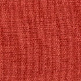 Carnac - Red Orange - Strawberry coloured linen, cotton and viscose blend fabric