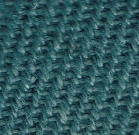 Zermatt - Venice Blue - Close-up image of turquoise coloured linen fabric which has been woven