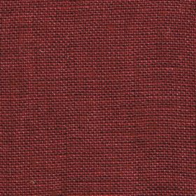 Visp - Red Rum - Woven linen fabric in a plain shade of blood red