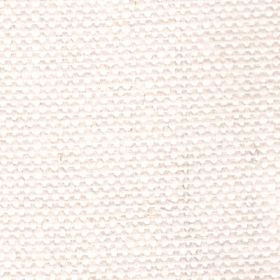 Duck Weave - Oyster - Plain white-cream coloured woven linen fabric