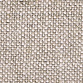 Duck Weave - Oatmeal - Linen fabric woven with cream coloured threads running vertically and mocha coloured threads running horizontally