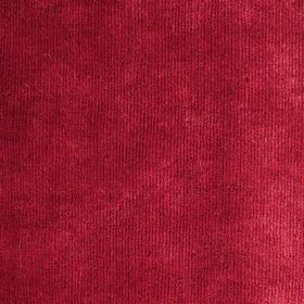 Syvota - 810 - Sample of cherry red coloured velvet effect fabric