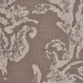 Venice - Buffalo - Distressed effect pale swirl pattern printed on a light brown linen fabric