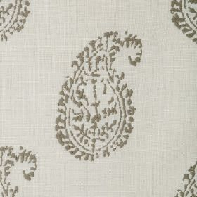 Umbria - Slate - Two different shades of grey as the colours for this fabric with its simple paisley shape design