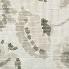 Amelia - Slate - Simple floral print fabric designed in several different shades of grey and beige