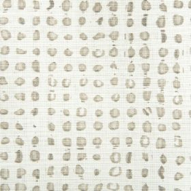 Petro - Slate - White fabric with a spotted design in shades of grey and cream