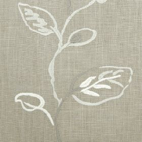 Martana - Dove - Grey and white lines formed into messy leaf and stem designs to run down this fabric in a different shade of grey