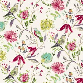 Honolulu - Cream - Cream fabric made from linen and cotton with an exotic pattern