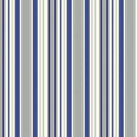 Patience Stripe - Porcelain - Fabric made from bright blue, light grey and white stripes