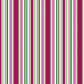 Patience Stripe - Fuchsia - Bright striped fabric featuring uneven bands in white and different shades of green and pink-purple