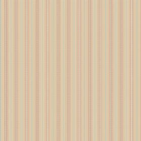 Nina - Salmon - Light yellow-cream coloured fabric striped with vertical lines in light grey and salmon pink