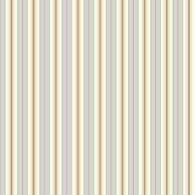 Evelyn Stripe - Powder - Light blue, light pink and dusky red lines printed vertically onto cream coloured fabric