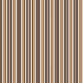 Evelyn Stripe - Charcoal - Fabric with a simple, repeated striped design in dark brown-grey, green, cream and salmon pink