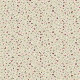 Petite Evelyn - Stone Pink - Cream coloured fabric scattered with tiny florals in different shades of pink and green