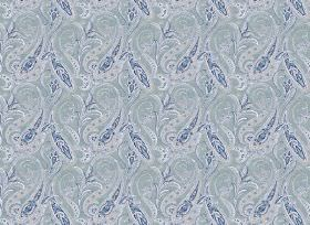 Persia - Blue - Fabric in several different shades of blue, with a design of patterned swirls