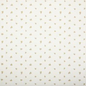 Zoe - Chintz - White fabric printed with rows of very small pastel coloured florals