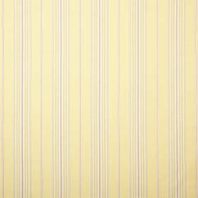 Ella - Lemon - Fabric with a repeated stripe pattern in light yellow and grey