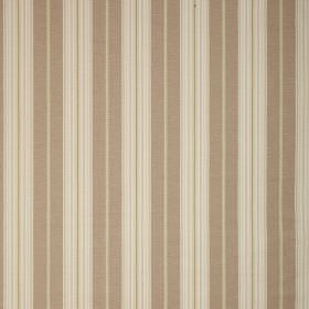 Ella - Taupe - Simply striped fabric in different shades of brown and cream