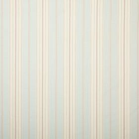 Ella - Aqua - Almost imperceptible very pale blue and grey stripes running vertically down off-white coloured fabric