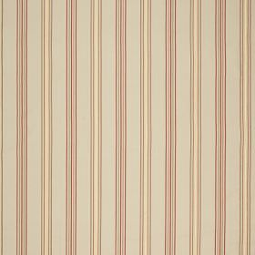 Castaigne - Olive Gold - Beige, cream and dark red striped fabric with a simple, repeated design