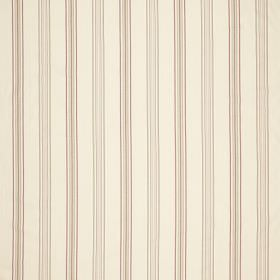 Castaigne - Chintz - Simple, very narrow grey and beige stripes making up a pattern of vertical lines on cream coloured fabric