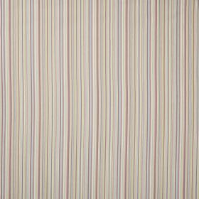 Hermes - Pastel - A whole range of pastel coloured stripes printed in narrow lines as a repeated vertical pattern on this fabric
