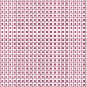 Alessandria Check (Linen Union) - 1 - Tiny red squares within a pink and white check print linen fabric