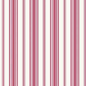 Alessandria Stripe (Cotton) - 1 - Intermittently striped red and white cotton fabric