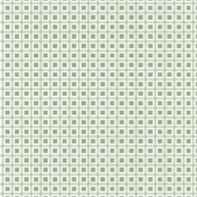 Alessandria Check (Cotton) - 2 - Green check print cotton fabric with dark green squares completing the repeated pattern