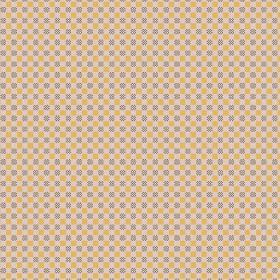 Chequers (Cotton) - 5 - Cotton fabric with an optical illusion style pattern of small squares and circles, in dark grey, mustard yellow, cre
