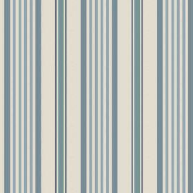 Knot (Linen Union) - 3 - Off-white linen fabric featuring a striped pattern in three different shades of blue