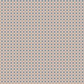 Chequers (Cotton) - 2 - Light brown coloured cotton fabric covered with tiny blue-grey squares and circles in dark brown