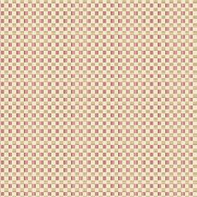 Anenome Check (Linen Union) - 1 - Alternating gold, pink and cream coloured squares in a checkerboard pattern on linen fabric