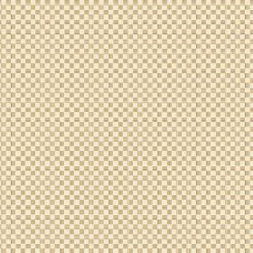 Anenome Check (Cotton) - 2 - Cotton fabric with a cream and gold coloured checkerboard effect