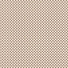 Anenome Check (Cotton) - 3 - Dark brown and light off-white squares making a checkerboard pattern on cotton fabric