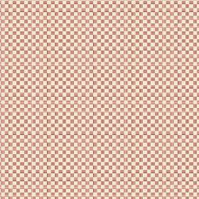 Anenome Check (Linen Union) - 4 - Pink-brown squares with cream coloured squares in a checkerboard effect linen fabric