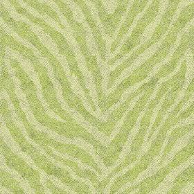 Zebra Spot Small (Cotton) - 1 - Bright and light green cotton fabric with an animal stripe effect