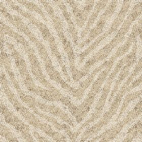 Zebra Spot Large (Linen Union) - 2 - Beige coloured stripes against stone coloured stripes in a zebra print, on linen fabric