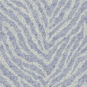 Zebra Spot Large (Linen Union) - 6 - Linen fabric with an animal stripe design in blue, with a darker shade and a lighter shade