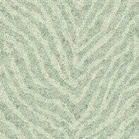 Zebra Spot Large (Cotton) - 7 - Zebra stripes in light green and pale teal on cotton fabric